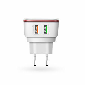 Kućni punjač LDNIO A2405Q Quick Charger 2.0 USB 5V 4.2A sa iPhone 6/6S kablom beli