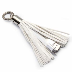 Data kabl sa priveskom micro USB beli
